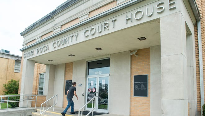 The Santa Rosa County Courthouse in Milton is pictured on Sept. 1, 2016.