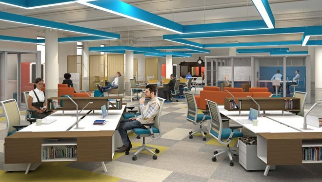 This is one of the spaces that will be featured in High Technology of Rochester's business accelerator, slated to open in 2017.