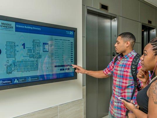Science Building interactive directory