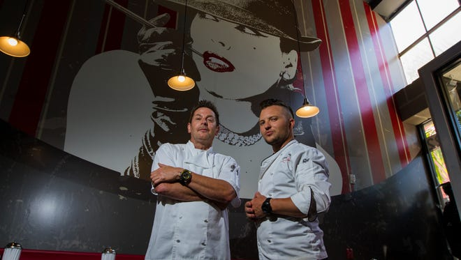 """Flat Top Larry's has closed. Larry Lare, left, opened the diner in downtown Fort Myers in June 2016 with local """"Master Chef"""" runner-up Derrick Peltz among his consultants."""