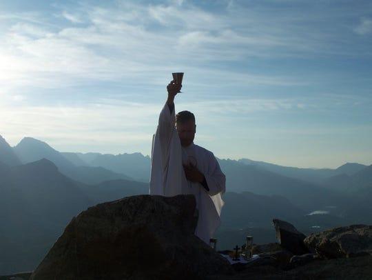 The Rev. Bob Frederick Jr., a chaplain at Wyoming Catholic