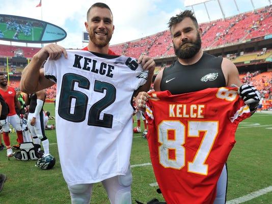 Travis Kelce, Jason Kelce