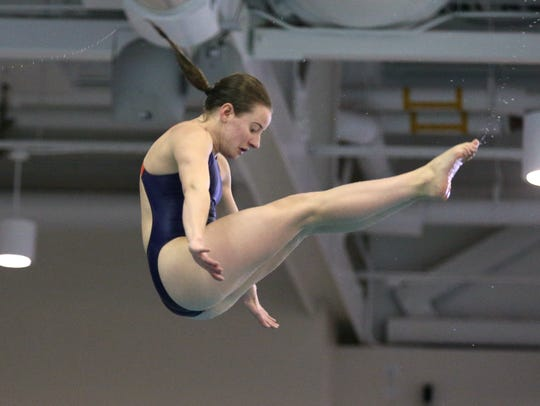 RIT diver Natalie Snyder, placed fifth at the Division