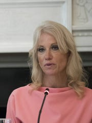 Counselor to the President Kellyanne Conway attends a meeting on the opioid crisis at the White House Sept. 28.