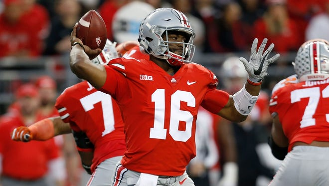 Ohio State's J.T. Barrett (35-6) is one victory away from tying Art Schlichter as the program's all-time winningest quarterback.