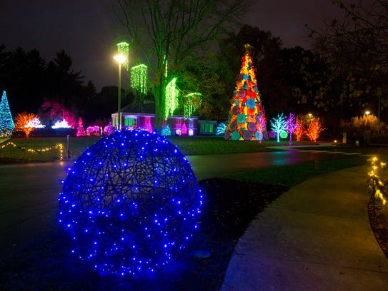 In this Nov. 16, 2017 photo, the Winterlights holiday