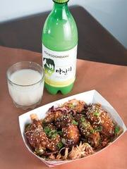 Korean BBQ Chicken paired with MakkoliKimchi Smoke