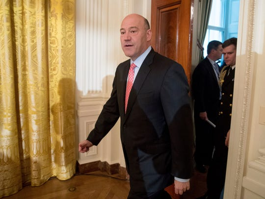 In this Jan. 22, 2017, file photo, Gary Cohn arrives