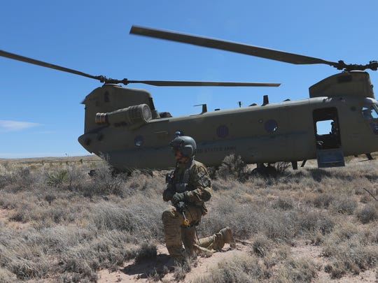 The 2nd Battalion, 501st Aviation Regiment conducted a field training exercise in which it simulated that a Chinook helicopter was shot down. Pilots and flight crews then practiced and sharpened their survival and evasion skills.
