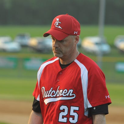 Annville-Cleona head baseball coach Scott Shyda stepped