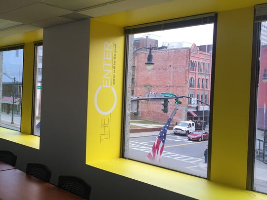 A conference room at The Space, the business incubator at 59 Court St. in Binghamton. A year of office space at The Center is among prizes in this year's Binghamton new-business contest.