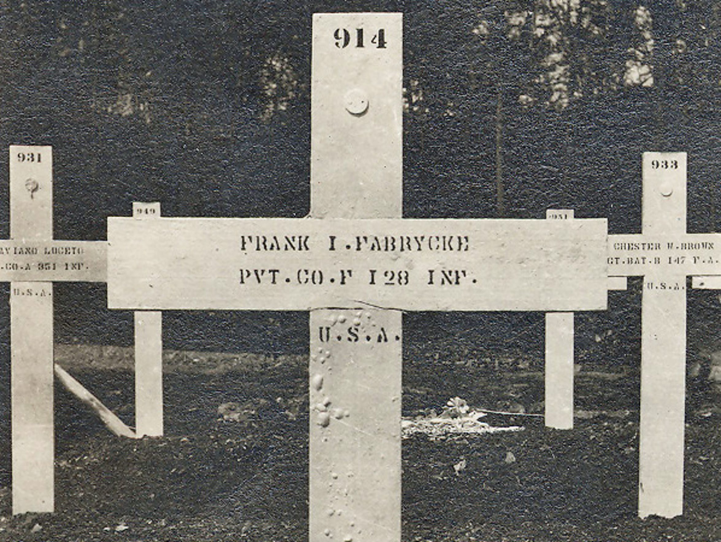 Frank Fabrycki was a member of the 2nd Wisconsin Regiment,