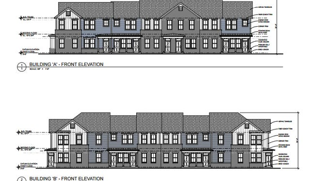 A rendering of the buildings at Howell Family Apartments.