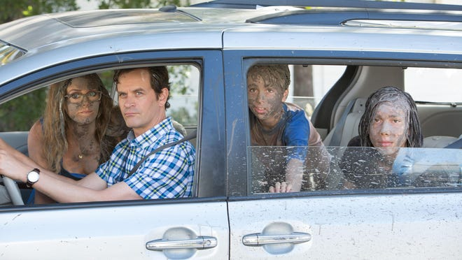 "Alicia Silverstone, Tom Everett Scott, Jason Drucker and Charlie Wright star in ""Diary of a Wimpy Kid: The Long Haul."""