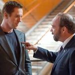 Damian Lewis (left) and Paul Giamatti in Showtime's 'Billions'