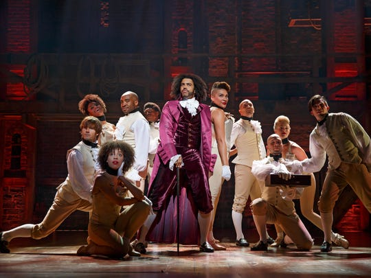 Daveed Diggs, center, won the Tony Award for best featured
