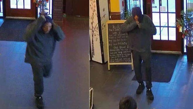 Vineland Police released surveillance photos of the suspect in the theft of a tip jar from a downtown restaurant.