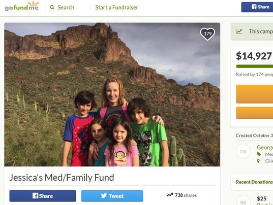GoFundMe campaign for Jessica Allan and family