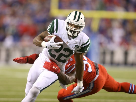 Jets running back Matt Forte rushed for 100 yards and 3 touchdowns.