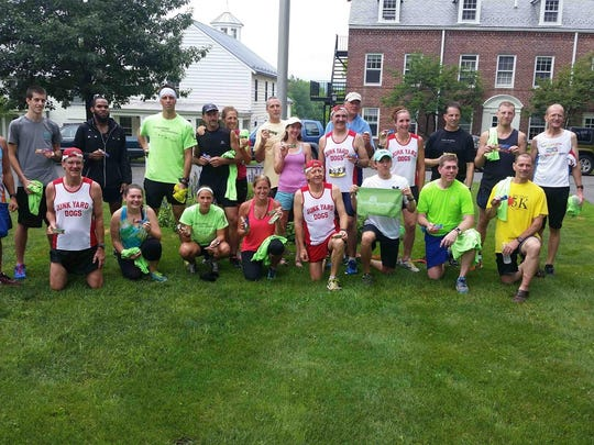 Runners pose together before taking part in the 2015 Hilltopper Half Marathon in this file photo.