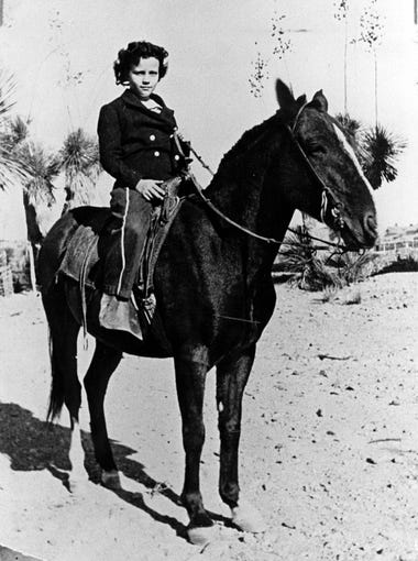 Sandra Day O'Connor, seen here circa 1940, would grow up to be the first woman to serve on the U.S. Supreme Court. She had a rough-and-tumble childhood in southeastern Arizona and New Mexico. She spent a lot of time on horseback at her family's ranch near Duncan, Arizona.
