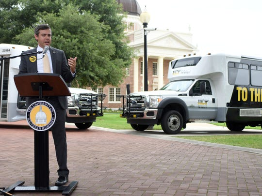 Officials with the University of Southern Mississippi and city of Hattiesburg announced Monday a new Hub City Transit route to provide convenient and safe transportation on the Hattiesburg campus and connect to the city's existing network of routes.