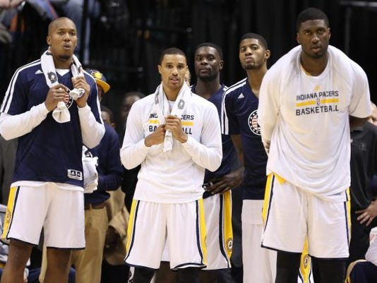 1348fe07273d The five Pacers starters make up the core of the team s foundation and  future success. But how likely that all five will return next season   (Photo  AP)