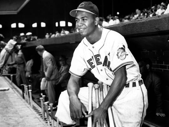 Larry Doby, first black player in the American League,
