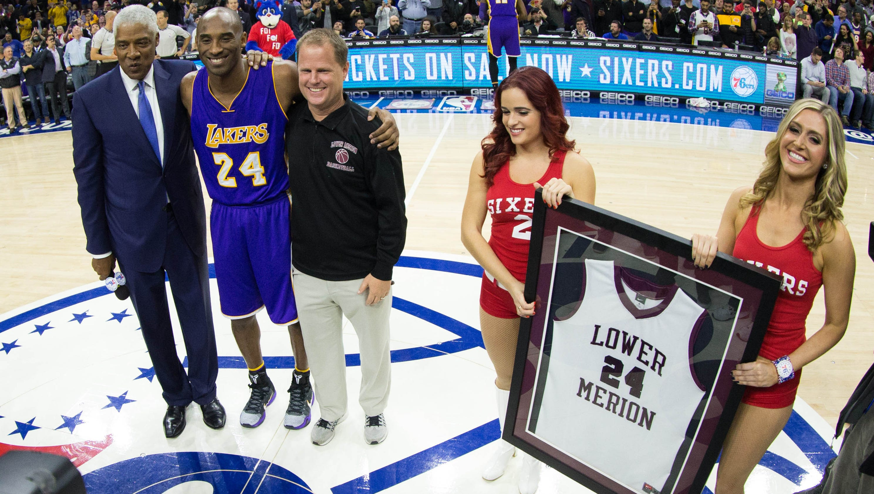 Kobe Bryant overcome with emotions in farewell to hometown