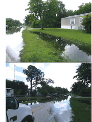 Karen Drive as it appeared after a rain in 2013.
