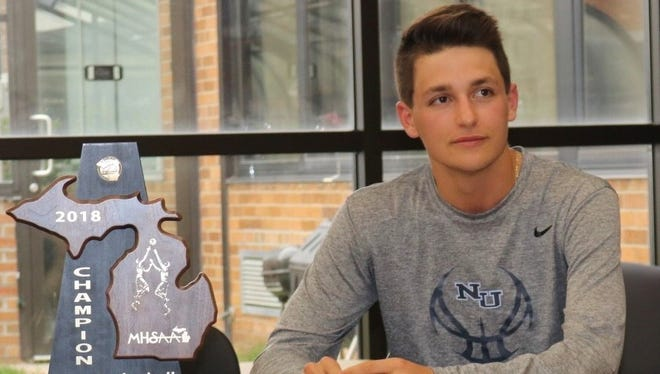 Farmington senior Christian Smith will play basketball next year at Northwood University, the school where his father played in the mid-90s.
