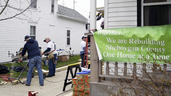 Kohler Co. employees and other volunteers came out for Rebuilding Together Sheboygan County's National Rebuilding Day and helped restore the homes of those in need on April 30, 2016.