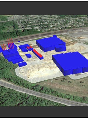 This rendering of the Wolf Technology Center in Newark as proposed by The Data Centers LLC was submitted to Delaware environmental regulators as part of a permit application in fall 2013.