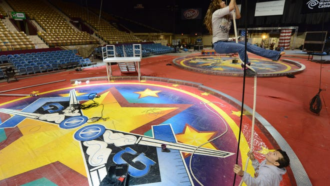 The first performance of this year's Beja Shrine Circus is set for 4 p.m. Friday at the Brown County Veterans Memorial Arena, 1901 S. Oneida St., Ashwaubenon.