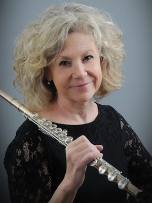 Soloist Rochelle Mann performs with the San Juan Symphony Saturday night at the Henderson Performance Hall on the San Juan College campus.