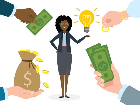 Businesswoman gets money for the idea.