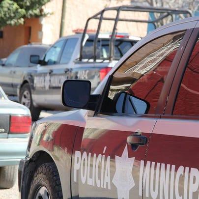 Juárez municipal police vehicle.