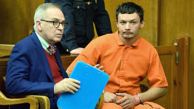 Francis Tattoli, in orange jumpsuit, at an earlier  court appearance Dec.19.