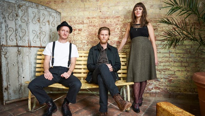 The Lumineers consist of drummer Jeremiah Fraites (from left), guitarist/vocalist Wesley Schultz and cellist/vocalist Neyla Pekarek.