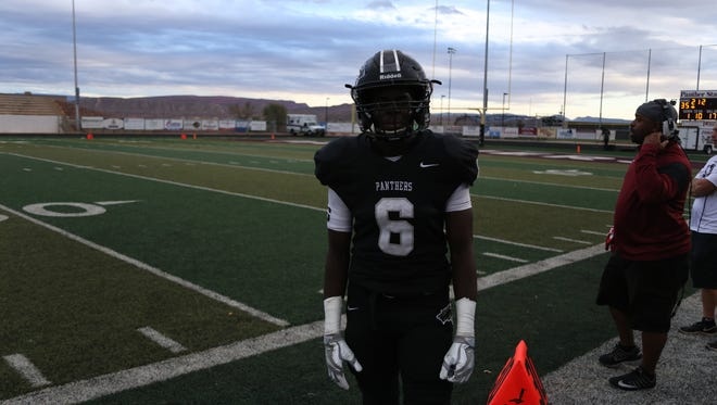 Pine View running back Jacob Mpungi rushed for a career-high 233 yards and four touchdowns to lead the Panthers to a 58-21 victory Friday night over Ben Lomond in the 3AA Playoffs.