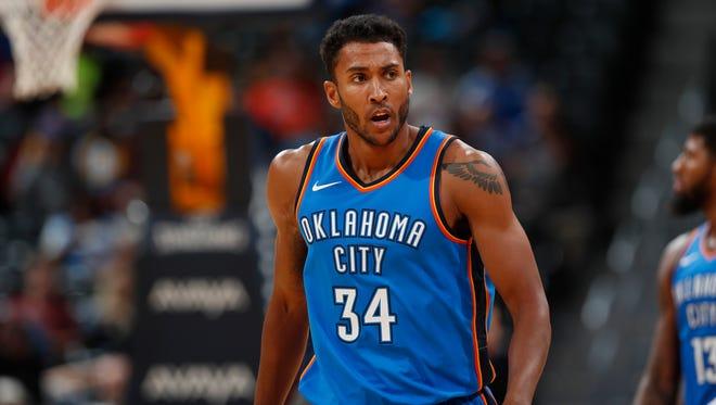 Oklahoma City Thunder forward Josh Huestis (34) will hold youth basketball camps this July in Great Falls and Bozeman.