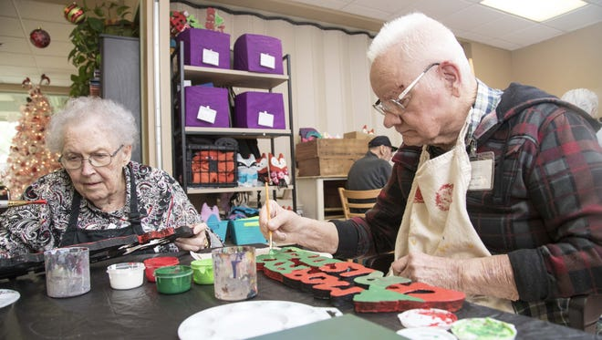 La Verne Bratcher and James Stipe enjoy their day club participating in activities based on art, music, history and more at Oakwood Creative Care in Mesa.