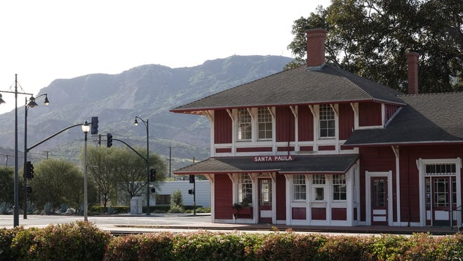 STAR FILE PHOTO In Santa Paula, looking toward South Mountain in the distance behind the historic railroad depot.
