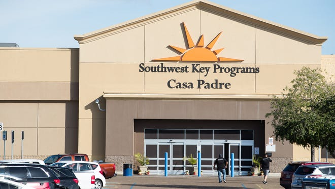 The Southwest Key Casa Padre Facility in Brownsville, Texas, is seen on June 18, 2018. The federal contractor housing immigrant children in Arizona, California and Texas issued a statement Wednesday denouncing family separations.