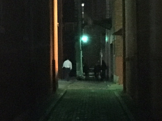 A woman was found beaten and killed in this alley in