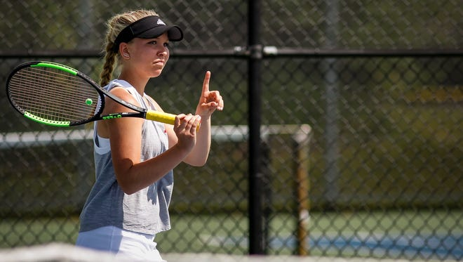 Mason No. 1 singles competitor Olivia Hanover enters the Division 2 state tennis tournament as the No. 2 seed.