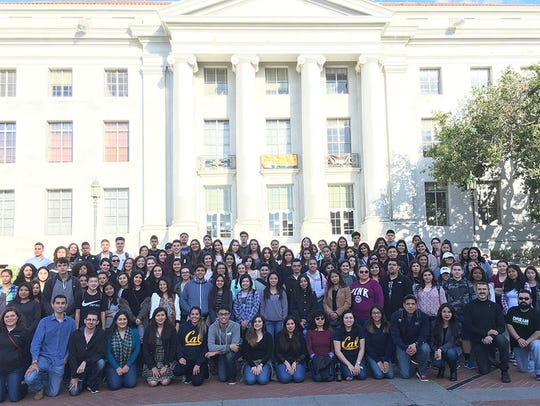 The Salinas Valley Dream Academy visiting the University
