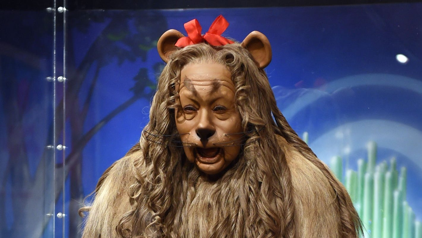 Wizard of Oz' Cowardly Lion costume fetches $3M