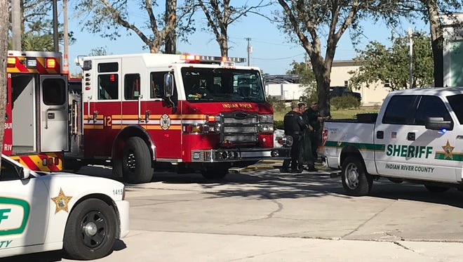 A person was pulled from a burning van near the Vero Beach Regional Airport Jan. 4, 2018.