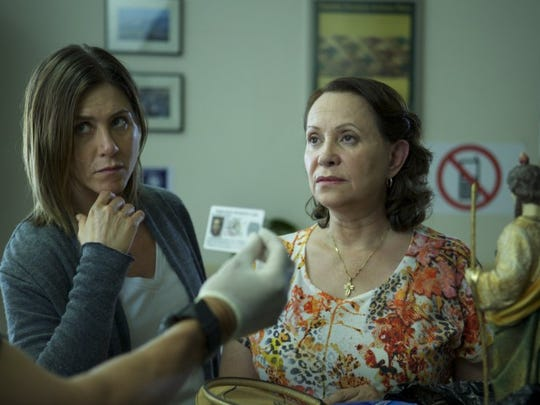 """In """"Cake,"""" Adriana Barraza plays Silvana, loyal housekeeper to Claire (Jennifer Aniston), the one remainder of a world that has largely abandoned her."""